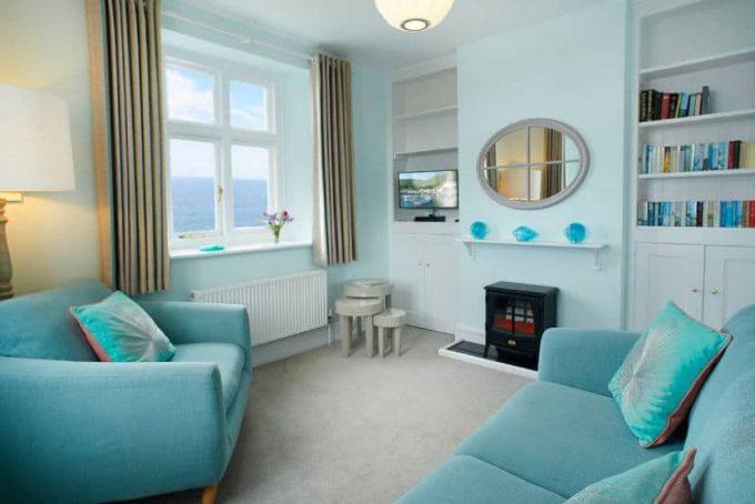 Beautiful sitting room and sea views