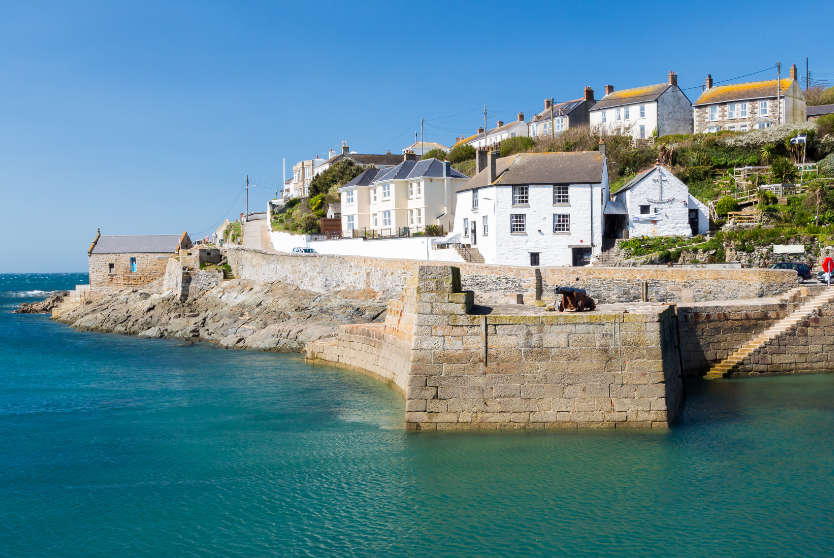 Overlooking the harbour at Porthleven