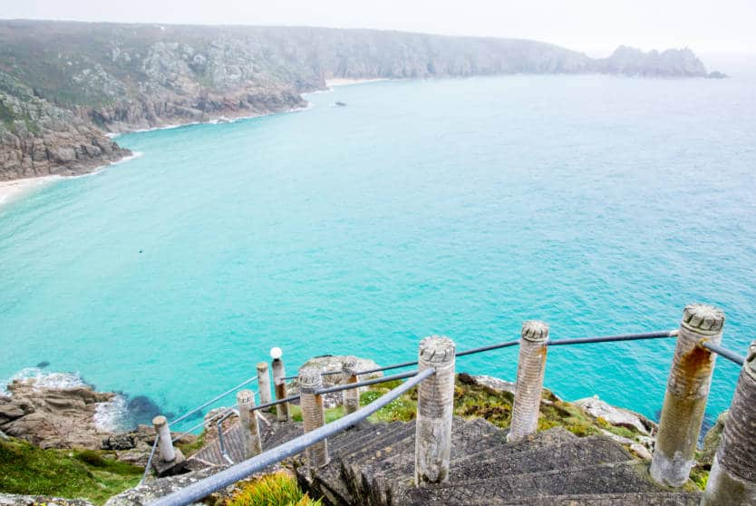 Views over Porthcurno Bay